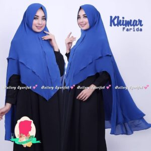 Khimar FARIDA by GALLERY SYARIFAH Khimar 2 Layer Bahan Ceruti Barbie