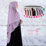 Khimar NAIMA ROSE DIAMOND by HAWWA AIWA Khimar Ceruti Baby Doll 2 Layer