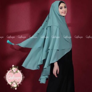Khimar SABQA DIAMOND by QALISYA Bahan Ceruti Super Korea 3 Layer