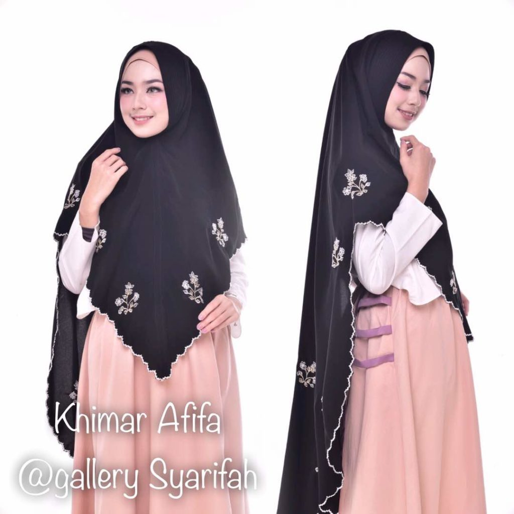 Khimar AFIFA BORDIR by GALLERY SYARIFAH 001