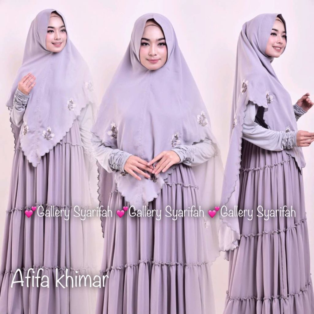 Khimar AFIFA BORDIR by GALLERY SYARIFAH 002