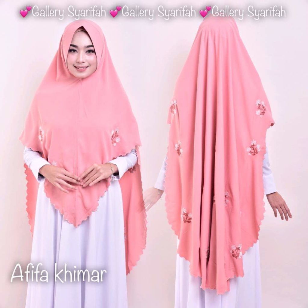 Khimar AFIFA BORDIR by GALLERY SYARIFAH 003