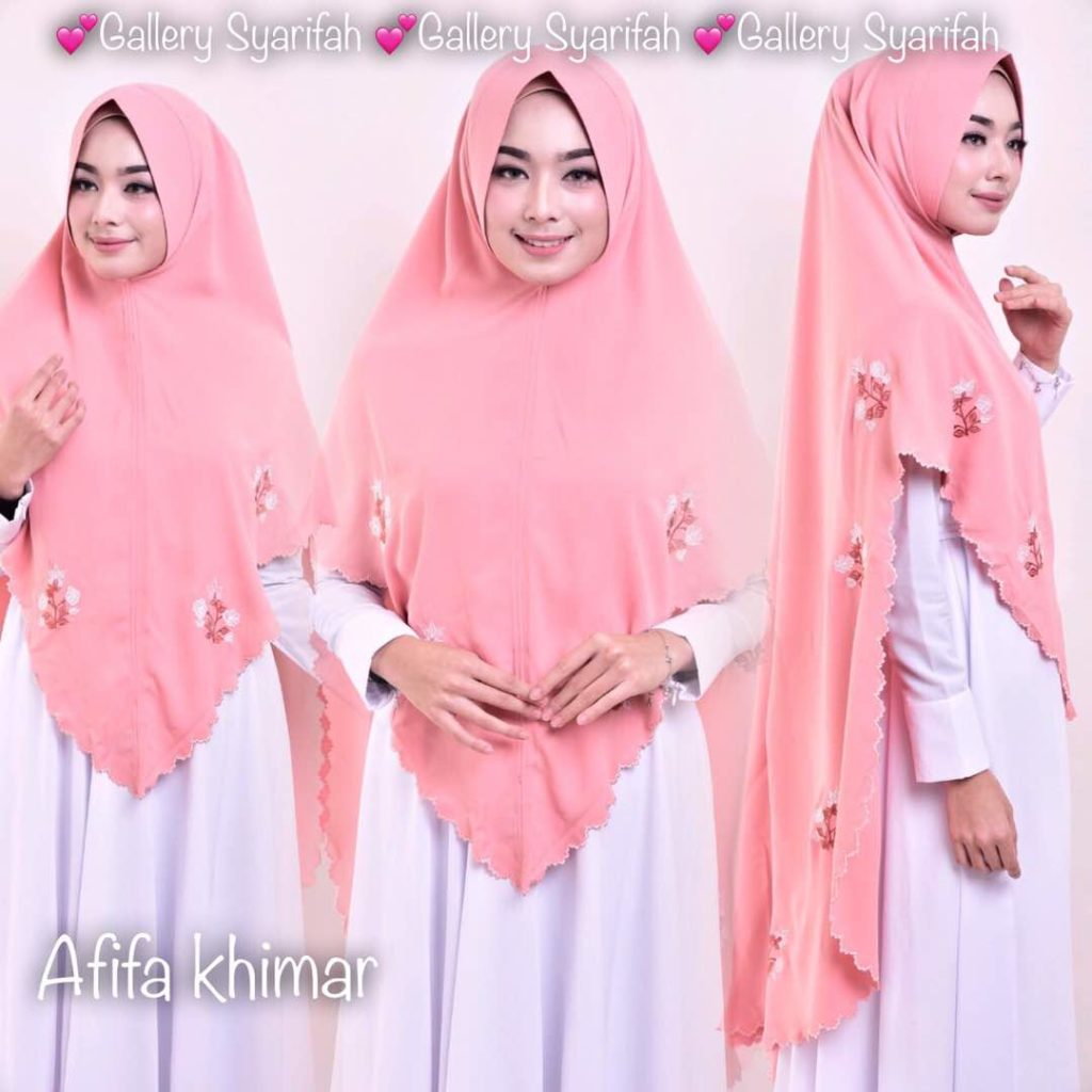 Khimar AFIFA BORDIR by GALLERY SYARIFAH 004