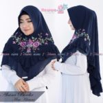 Khimar Alaina Bordir by Hawwa Aiwa Kerudung Pet Ceruty Babydoll 2 Layer