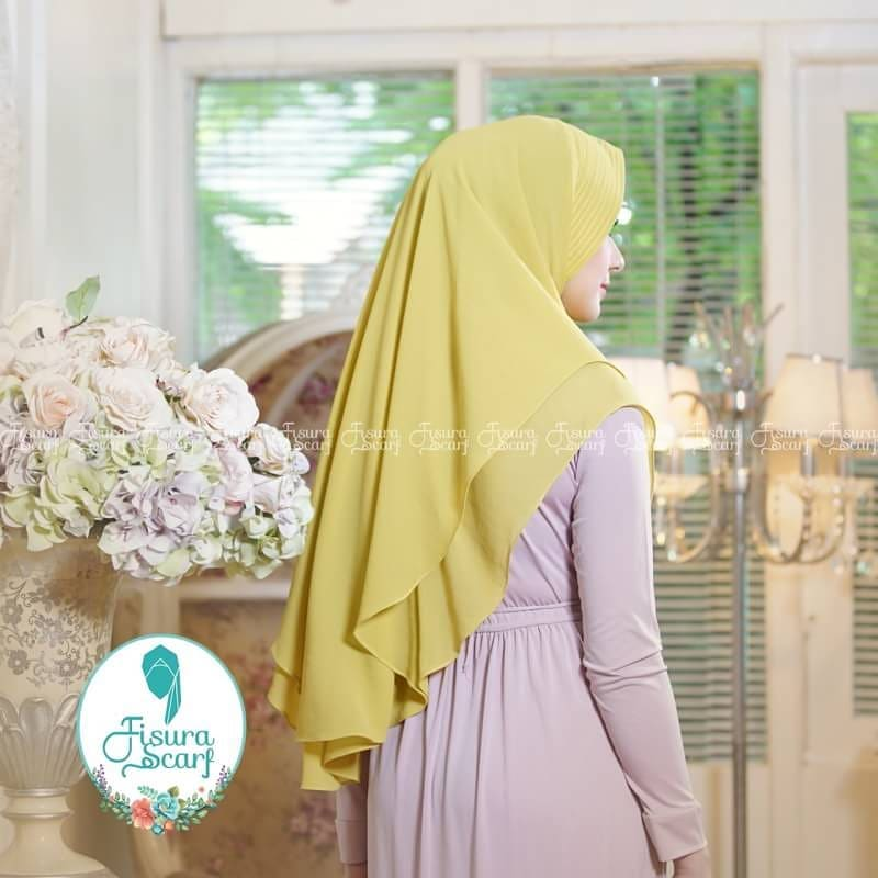 Khimar Sonkey by Fisura Khimar Simple 2 Layer Bahan Ceruti Babydoll 10 1