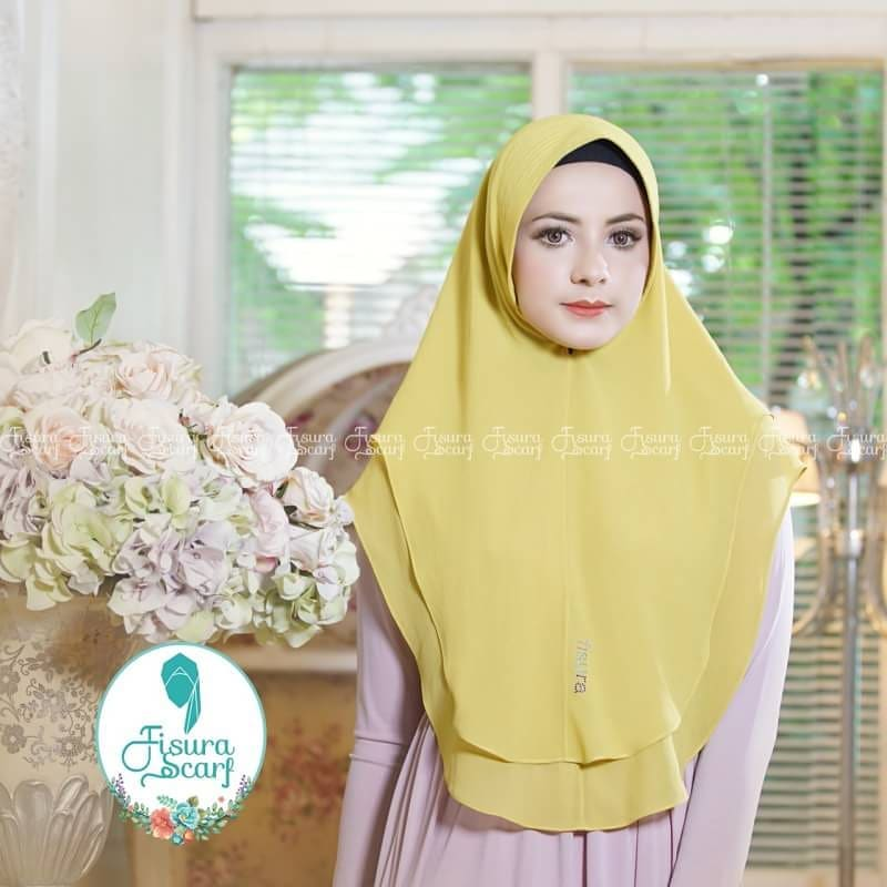Khimar Sonkey by Fisura Khimar Simple 2 Layer Bahan Ceruti Babydoll 10