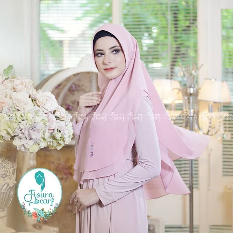 Khimar Sonkey by Fisura Khimar Simple 2 Layer Bahan Ceruti Babydoll 13 1