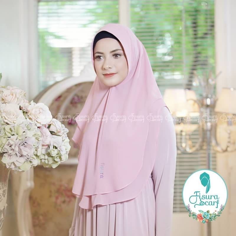 Khimar Sonkey by Fisura Khimar Simple 2 Layer Bahan Ceruti Babydoll 13