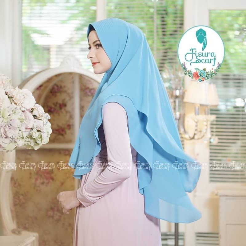 Khimar Sonkey by Fisura Khimar Simple 2 Layer Bahan Ceruti Babydoll 14 1