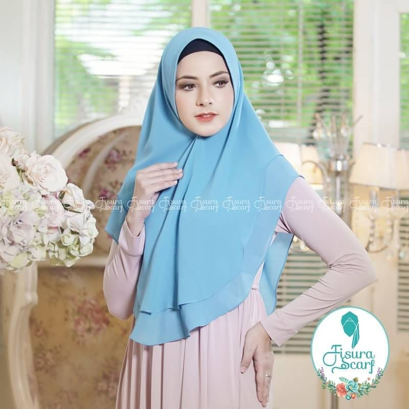 Khimar Sonkey by Fisura Khimar Simple 2 Layer Bahan Ceruti Babydoll 14