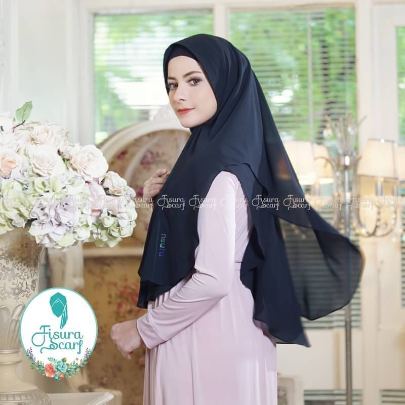 Khimar Sonkey by Fisura Khimar Simple 2 Layer Bahan Ceruti Babydoll 20 1