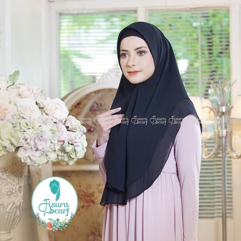Khimar Sonkey by Fisura Khimar Simple 2 Layer Bahan Ceruti Babydoll 20