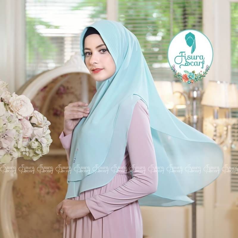 Khimar Sonkey by Fisura Khimar Simple 2 Layer Bahan Ceruti Babydoll 3 1