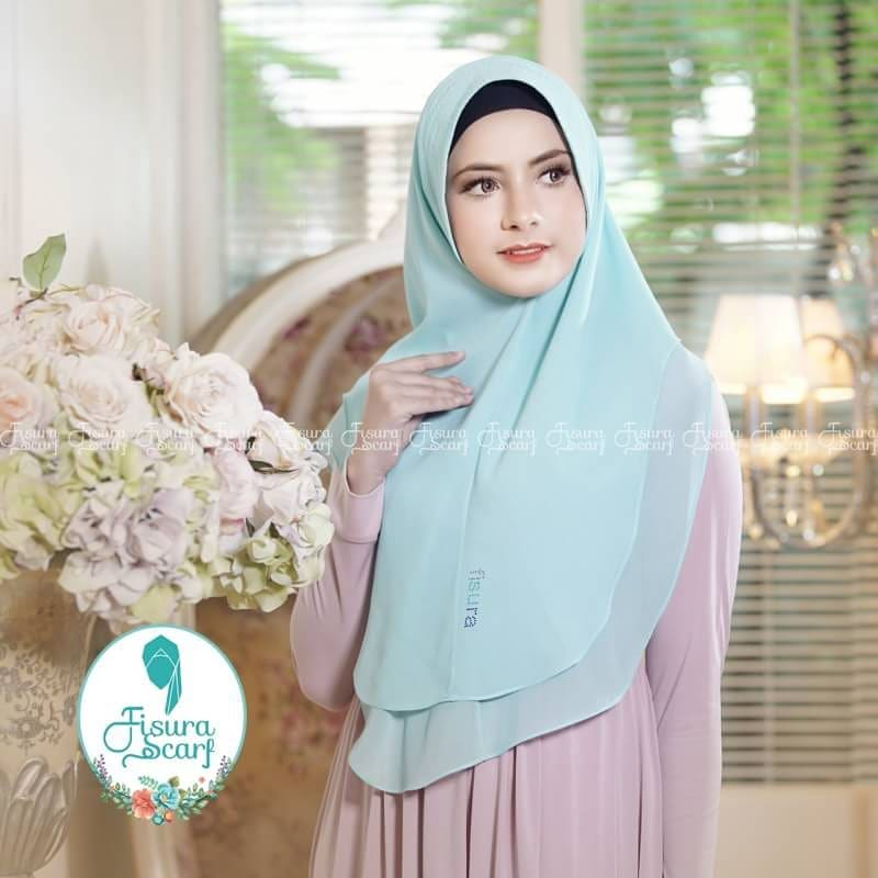 Khimar Sonkey by Fisura Khimar Simple 2 Layer Bahan Ceruti Babydoll 3