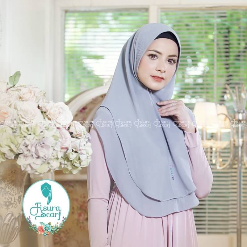 Khimar Sonkey by Fisura Khimar Simple 2 Layer Bahan Ceruti Babydoll 4 1