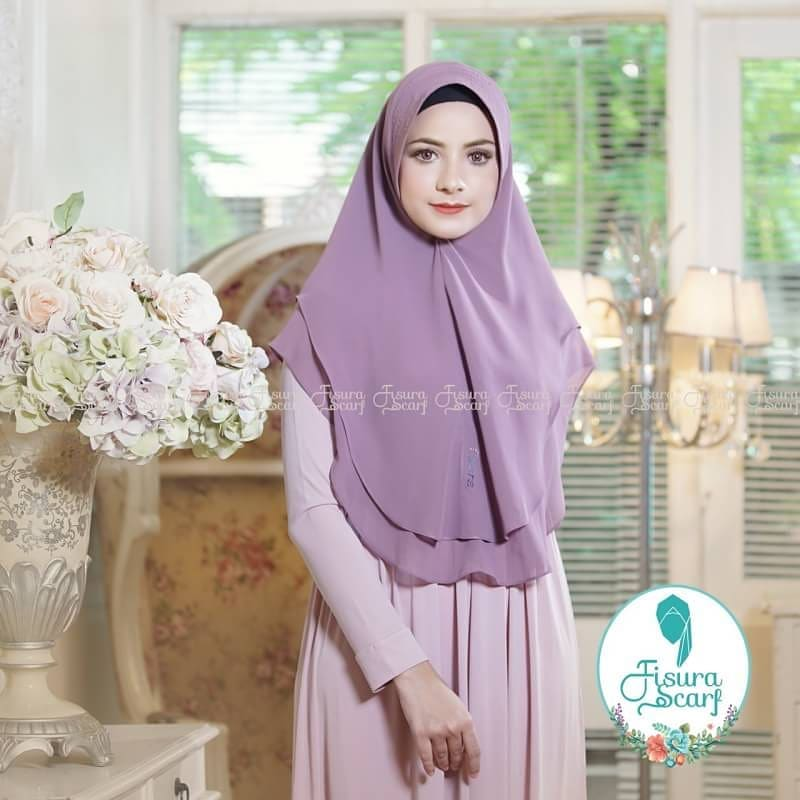 Khimar Sonkey by Fisura Khimar Simple 2 Layer Bahan Ceruti Babydoll 5 1