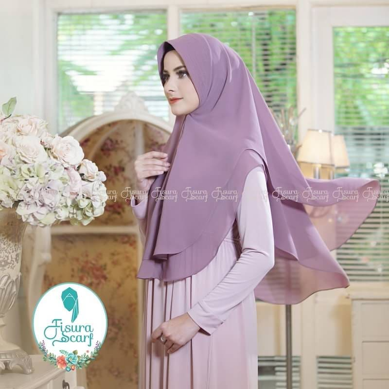 Khimar Sonkey by Fisura Khimar Simple 2 Layer Bahan Ceruti Babydoll 5