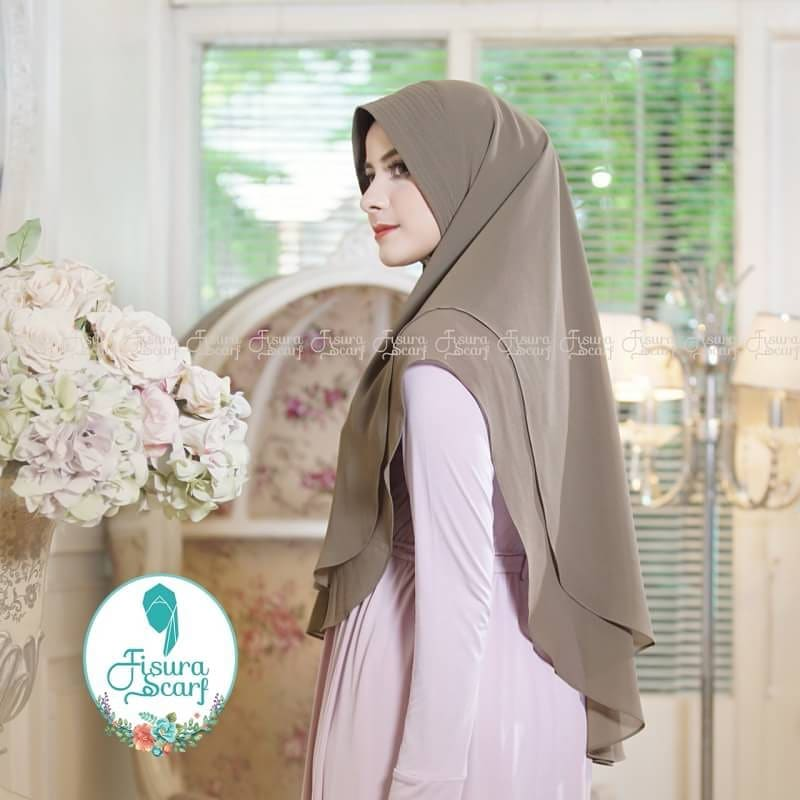 Khimar Sonkey by Fisura Khimar Simple 2 Layer Bahan Ceruti Babydoll 8 1