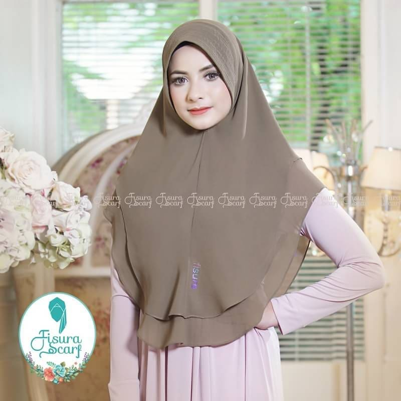 Khimar Sonkey by Fisura Khimar Simple 2 Layer Bahan Ceruti Babydoll 8