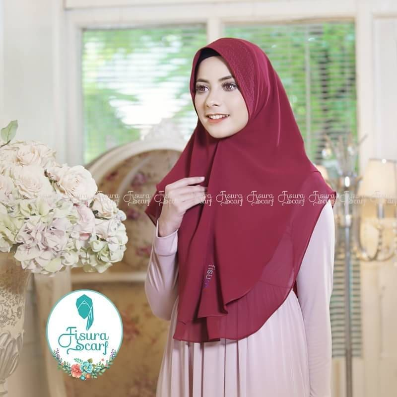 Khimar Sonkey by Fisura Khimar Simple 2 Layer Bahan Ceruti Babydoll 9