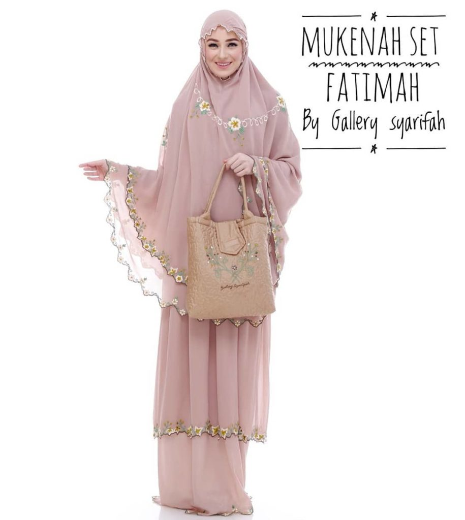 Mukena Fatimah by Gallery Syarifah Mukenah Bordir Eksklusif Bahan Ceruti Barbie 4 Warna Coksu