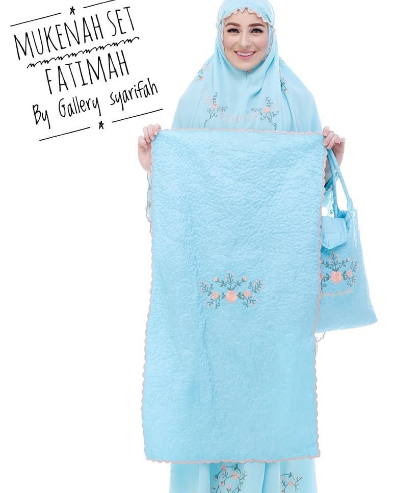Mukena Fatimah by Gallery Syarifah Mukenah Bordir Eksklusif Bahan Ceruti Barbie 5 2 Warna Mint