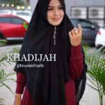 Khimar Khadijah by House of Sarki Jilbab 2 Layer Bahan Ceruti Babydoll