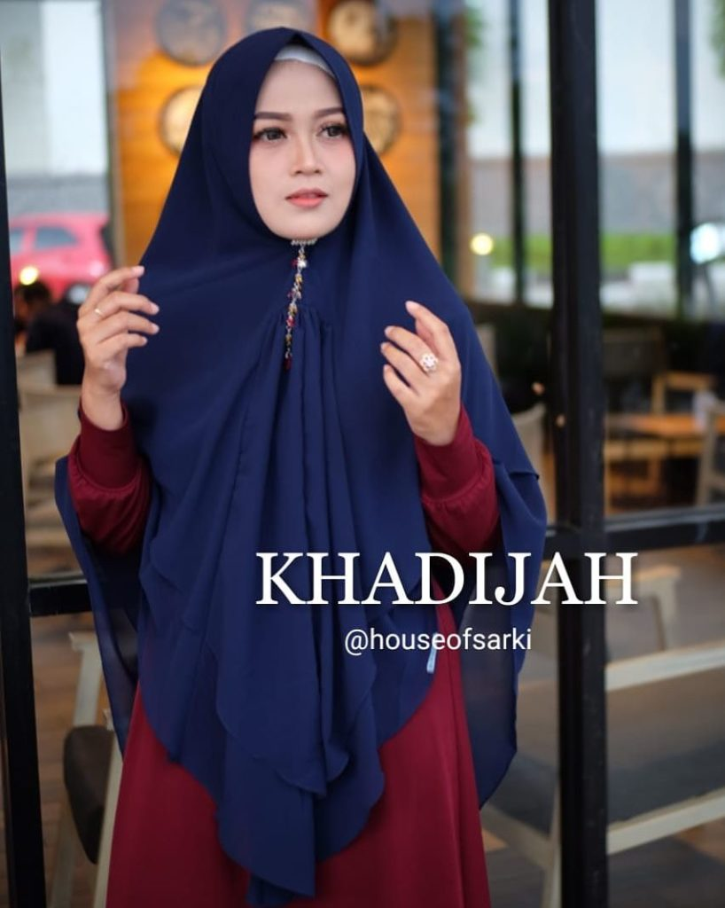 Khimar Khadijah by House of Sarki 05 Biru Dongker Navy